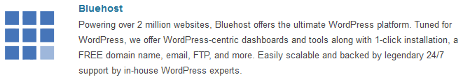 Bluehost - WordPress.org Hosting page