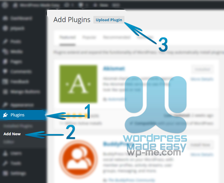 Install WordPress Plugin - Add Plugin