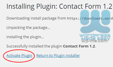 Install WordPress Plugin automatically - Activate Plugin