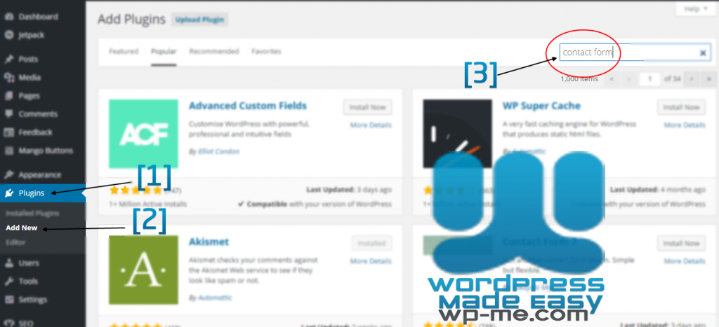 Install WordPress Plugin automatically - Add Plugins