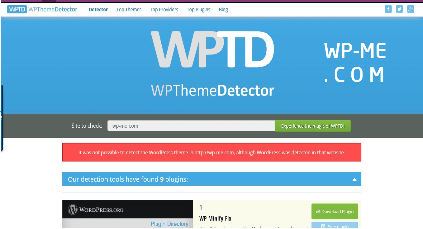 How to use WordPress Theme Detector