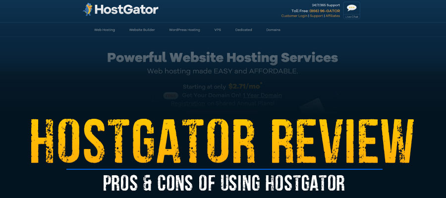 HostGator Review Pros and Cons