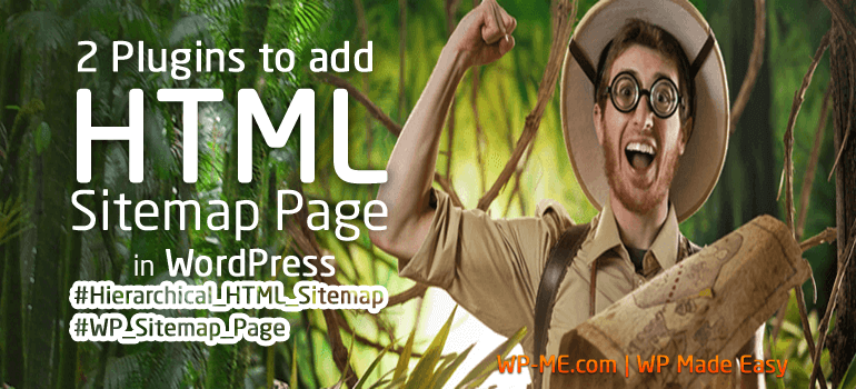 How to add an HTML Sitemap Page in WordPress using Hierarchical HTML Sitemap and WP Sitemap Page WordPress Plugins