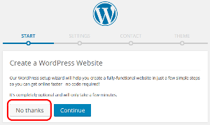 Create a WordPress Website Installatron