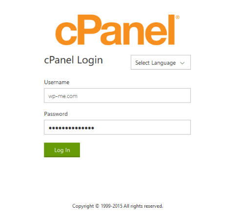 GoDaddy cPanel Login