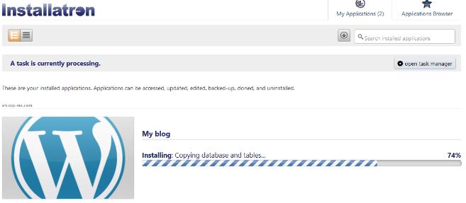 Wait Until WordPress is installed
