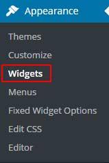 Widgets in WordPress Admin Panel