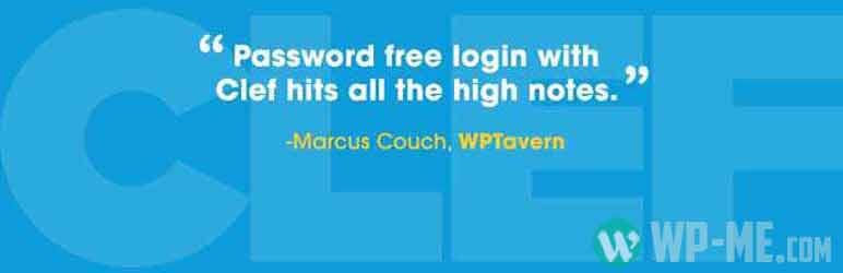 Clef Two-Factor Authentication WordPress Security plugin