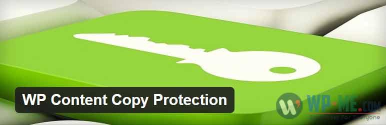 WP Content Copy Protection WordPress plugin