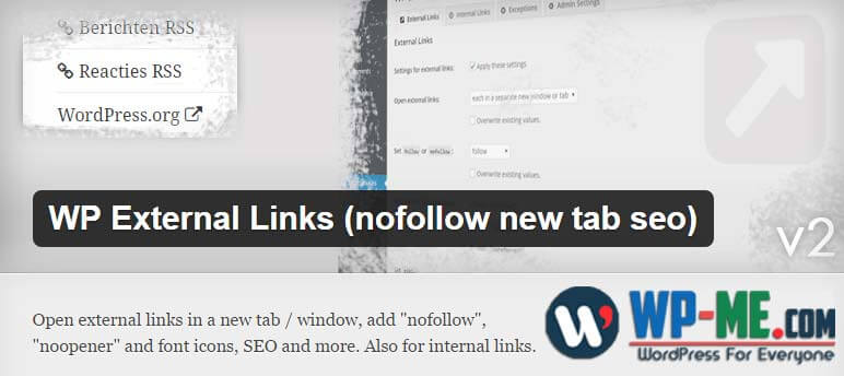 WP External Links WordPress plugin