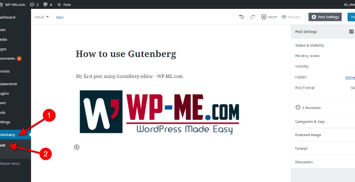 Gutenberg Editor WordPress