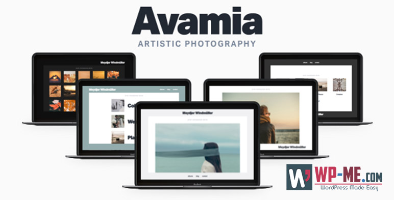 Avamia Artistic Photography Theme