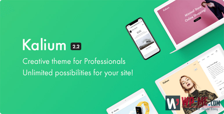 Kalium - Creative WordPress Theme for Professionals