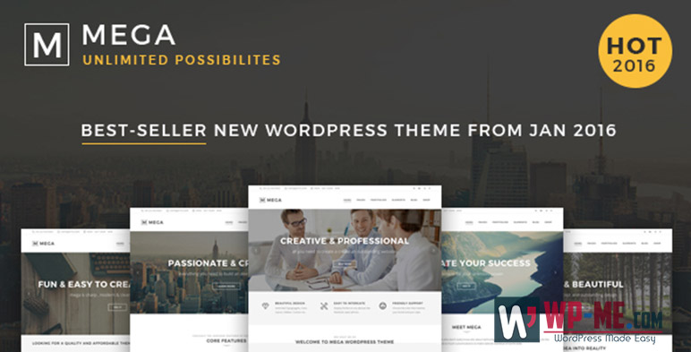 Mega Photography WordPress Theme