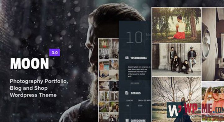 Moon WordPress Photography Theme
