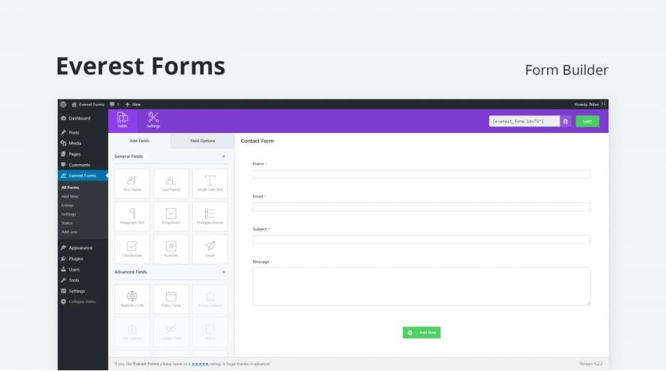 Everest Forms WordPress Plugin