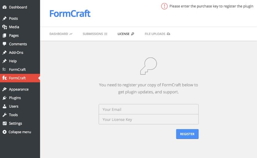 FormCraft WordPress Forms Plugin